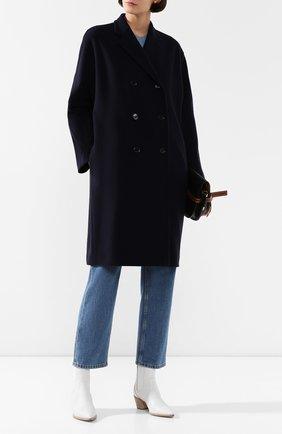 Женское шерстяное пальто RALPH LAUREN темно-синего цвета, арт. 290788619 | Фото 2