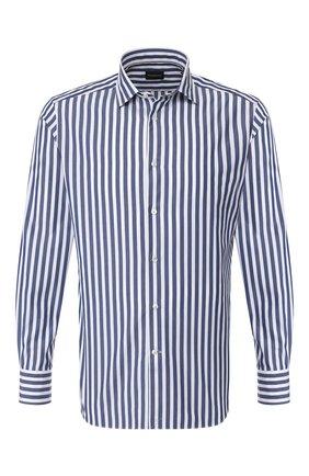 Мужская хлопковая сорочка ERMENEGILDO ZEGNA синего цвета, арт. 701344/9MS0M2 | Фото 1