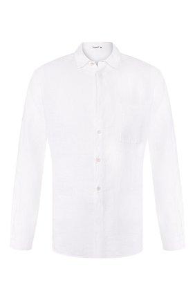 Мужская льняная рубашка TRANSIT белого цвета, арт. CFUTRKT295   Фото 1