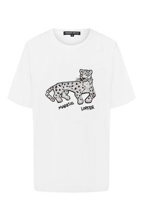Женская хлопковая футболка MARKUS LUPFER белого цвета, арт. TEE349 | Фото 1
