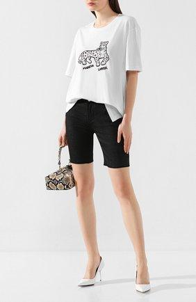 Женская хлопковая футболка MARKUS LUPFER белого цвета, арт. TEE349 | Фото 2