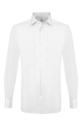 Мужская хлопковая сорочка LUIGI BORRELLI белого цвета, арт. EV08/LUCIAN0/TS9180 | Фото 1