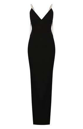 Женское платье-макси RICK OWENS черного цвета, арт. RP20S1517/GG   Фото 1