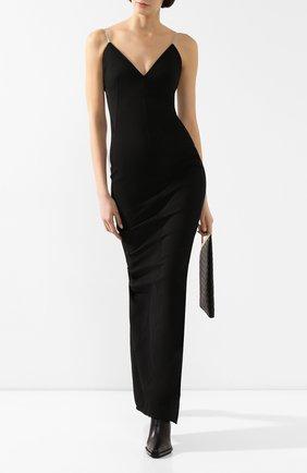 Женское платье-макси RICK OWENS черного цвета, арт. RP20S1517/GG   Фото 2