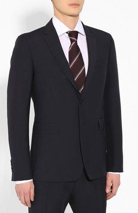 Мужской шерстяной костюм BURBERRY синего цвета, арт. 8022236 | Фото 2