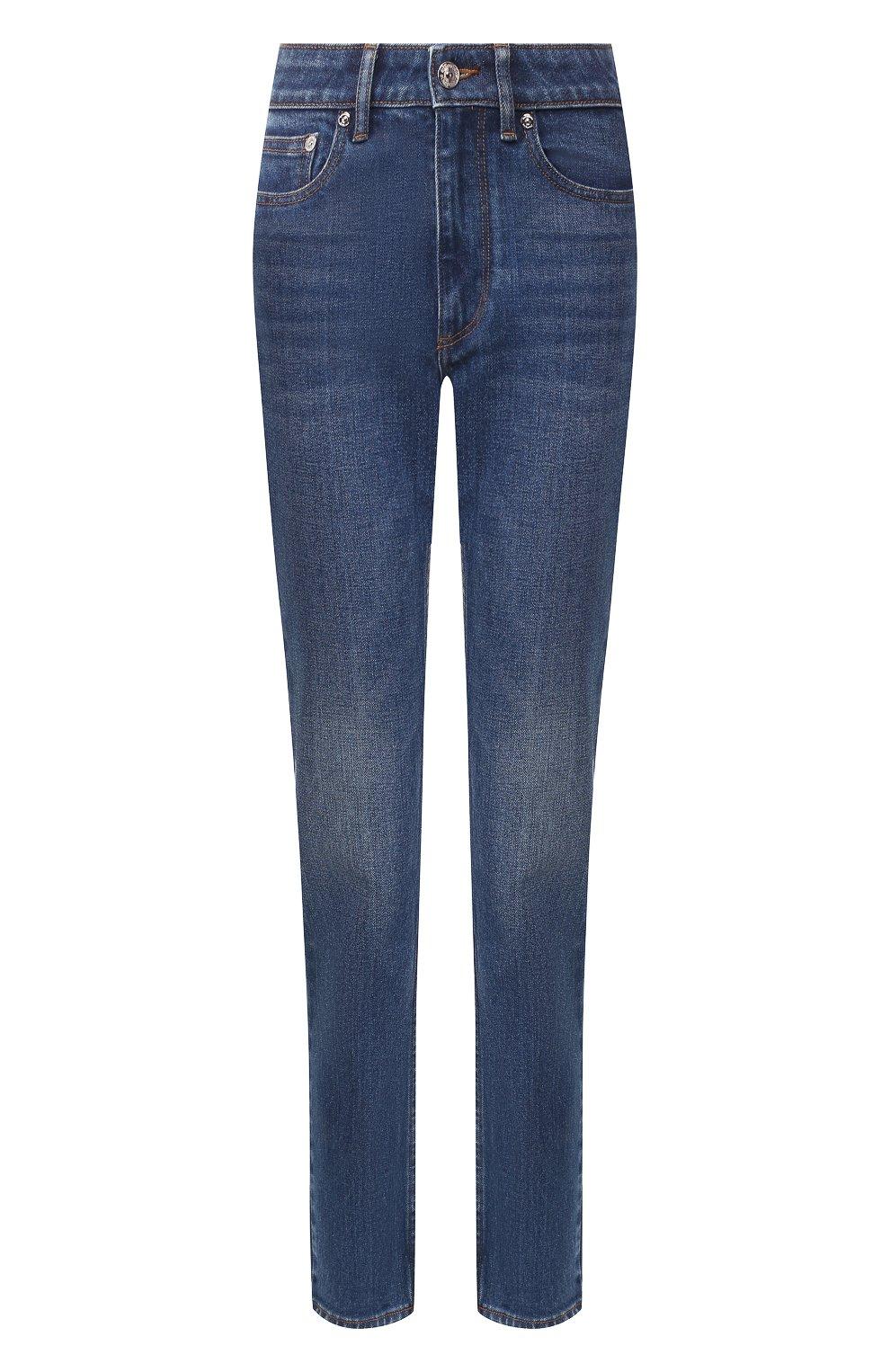 Женские джинсы BURBERRY темно-синего цвета, арт. 8025576 | Фото 1