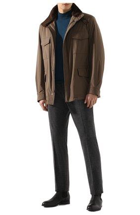 Мужские хлопковые брюки RALPH LAUREN серого цвета, арт. 798783842 | Фото 2