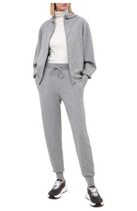 Женские кашемировые джоггеры CHLOÉ серого цвета, арт. CHC20SMT01500 | Фото 2