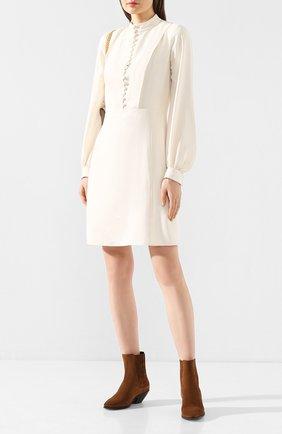 Женское платье CHLOÉ белого цвета, арт. CHC20SR095237 | Фото 2