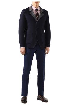 Мужской шерстяные брюки LORO PIANA темно-синего цвета, арт. FAL1515 | Фото 2