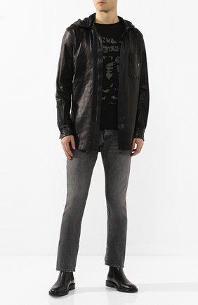 Мужская кожаная куртка GIORGIO BRATO черного цвета, арт. GU20S9404STVG | Фото 2