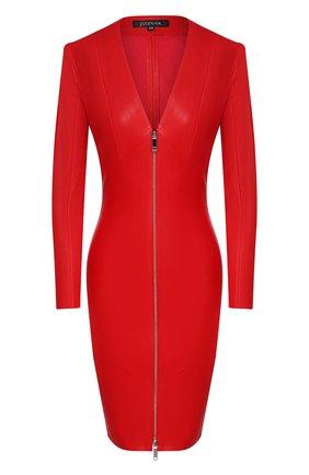 Женское кожаное платье JITROIS красного цвета, арт. R0BE VEGA FEM APS | Фото 1