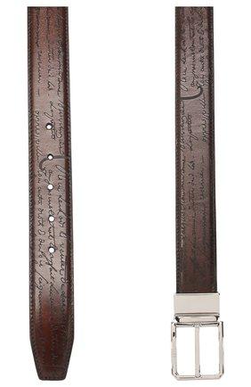 Мужской кожаный ремень BERLUTI синего цвета, арт. C0028-008 | Фото 2