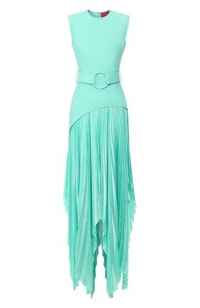 Женское платье с поясом SOLACE светло-зеленого цвета, арт. 0S25054 | Фото 1