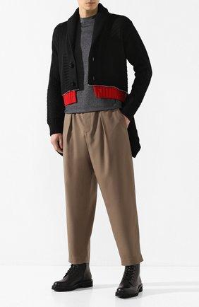Мужская шерстяной кардиган ALEXANDER MCQUEEN черного цвета, арт. 603248/Q1ALR | Фото 2