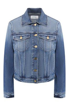 Женская джинсовая куртка FRAME DENIM синего цвета, арт. LVJK204 | Фото 1