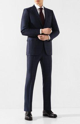 Мужской шерстяной костюм ERMENEGILDO ZEGNA темно-синего цвета, арт. 722518/221225 | Фото 1