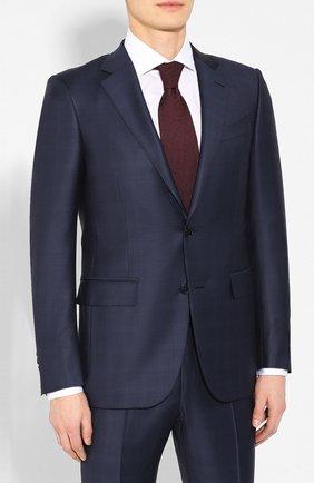 Мужской шерстяной костюм ERMENEGILDO ZEGNA темно-синего цвета, арт. 722518/221225 | Фото 2