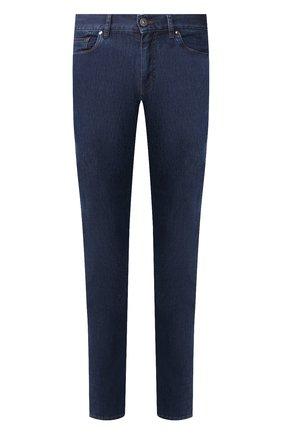 Мужские джинсы ERMENEGILDO ZEGNA темно-синего цвета, арт. UUI90/JS01 | Фото 1