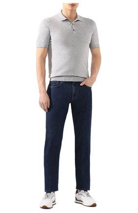 Мужские джинсы ERMENEGILDO ZEGNA темно-синего цвета, арт. UUI90/JS01 | Фото 2