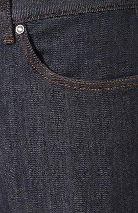 Мужские джинсы ERMENEGILDO ZEGNA темно-синего цвета, арт. UUI90/JS01 | Фото 5