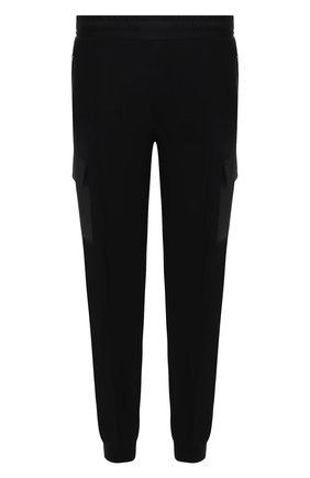 Мужские шерстяные джоггеры Z ZEGNA темно-синего цвета, арт. VU475/ZZTP35 | Фото 1 (Материал внешний: Шерсть; Длина (брюки, джинсы): Стандартные; Силуэт М (брюки): Джоггеры, Карго; Мужское Кросс-КТ: Брюки-трикотаж)