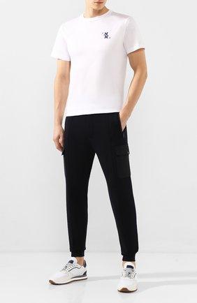 Мужские шерстяные джоггеры Z ZEGNA темно-синего цвета, арт. VU475/ZZTP35 | Фото 2 (Материал внешний: Шерсть; Длина (брюки, джинсы): Стандартные; Силуэт М (брюки): Джоггеры, Карго; Мужское Кросс-КТ: Брюки-трикотаж)