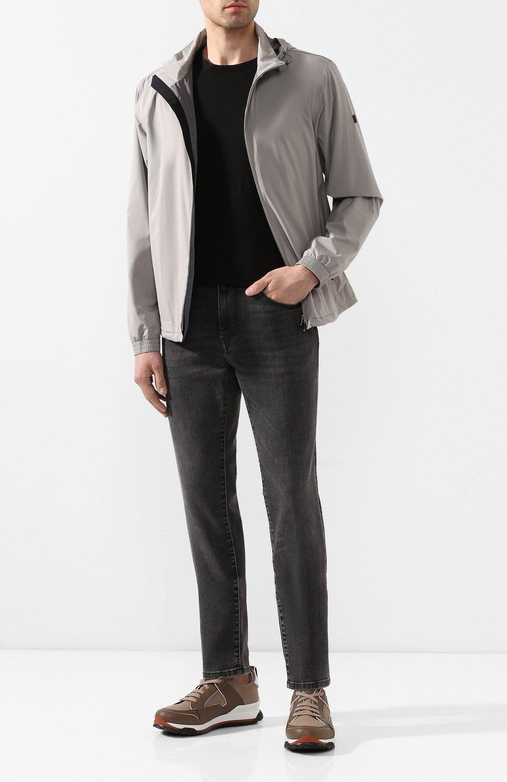 Мужские джинсы Z ZEGNA темно-серого цвета, арт. VU712/ZZ510   Фото 2