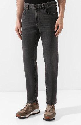 Мужские джинсы Z ZEGNA темно-серого цвета, арт. VU712/ZZ510   Фото 3