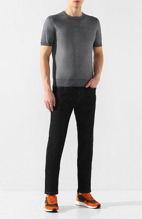 Мужские джинсы Z ZEGNA черного цвета, арт. VU721/ZZ530 | Фото 2