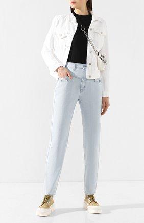 Женская джинсовая куртка J BRAND белого цвета, арт. JB000787/B | Фото 2