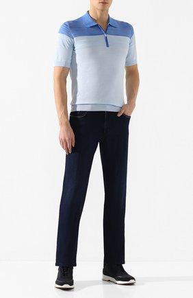 Мужские джинсы ZILLI темно-синего цвета, арт. MCT-00049-JABI1/R001 | Фото 2