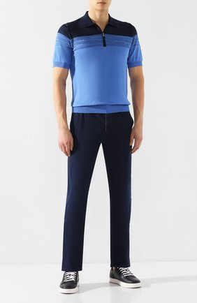 Мужские джинсы ZILLI темно-синего цвета, арт. MCT-00079-DEUL1/R001   Фото 2