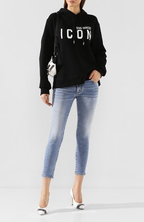 Женские джинсы DSQUARED2 темно-синего цвета, арт. S75LB0301/S30595 | Фото 2