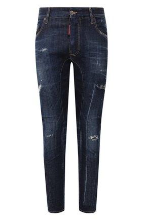 Мужские джинсы DSQUARED2 темно-синего цвета, арт. S74LB0714/S30342 | Фото 1