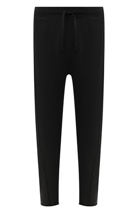 Мужской хлопковые брюки TRANSIT черного цвета, арт. CFUTRK7423   Фото 1