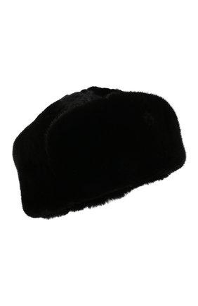 Мужская шапка-ушанка из меха норки KUSSENKOVV черного цвета, арт. 338502802158 | Фото 1