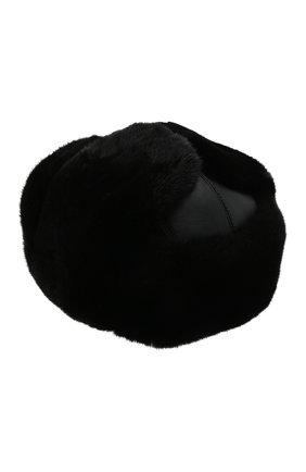 Мужская шапка-ушанка из меха норки KUSSENKOVV черного цвета, арт. 338502802158 | Фото 2