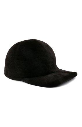 Мужской бейсболка из меха норки KUSSENKOVV темно-коричневого цвета, арт. 380210004140 | Фото 1