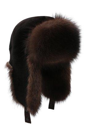 Мужская шапка-ушанка из меха норки KUSSENKOVV разноцветного цвета, арт. 320216983227 | Фото 1