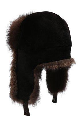 Мужская шапка-ушанка из меха норки KUSSENKOVV разноцветного цвета, арт. 320216983227 | Фото 2