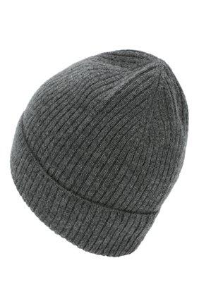 Мужская кашемировая шапка lyon CANOE темно-серого цвета, арт. 4912271 | Фото 2