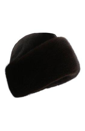 Мужская пилотка из меха норки KUSSENKOVV темно-коричневого цвета, арт. 420210204132 | Фото 1