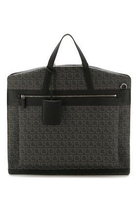Мужская дорожная сумка SALVATORE FERRAGAMO темно-серого цвета, арт. Z-0716630 | Фото 1