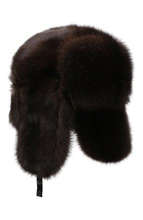 Мужская шапка-ушанка из меха соболя KUSSENKOVV разноцветного цвета, арт. 333500004158 | Фото 1