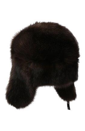 Мужская шапка-ушанка из меха соболя KUSSENKOVV разноцветного цвета, арт. 333500004158 | Фото 2