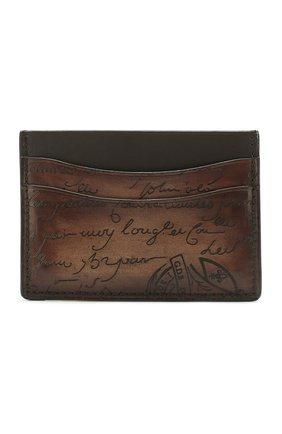 Мужской кожаный футляр для кредитных карт BERLUTI коричневого цвета, арт. N135256 | Фото 1