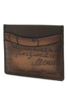 Мужской кожаный футляр для кредитных карт BERLUTI коричневого цвета, арт. N135256 | Фото 2