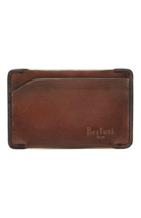 Мужской кожаный футляр для кредитных карт BERLUTI коричневого цвета, арт. N152792 | Фото 1