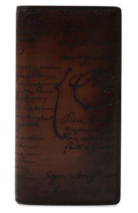 Мужской кожаное портмоне BERLUTI коричневого цвета, арт. N135264 | Фото 1